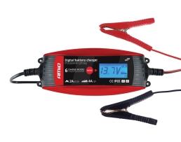 Зарядно устройство ,Токоизправител за автомобилен акумулатор AMIO цифрово 6V/2A 12V/4A 1бр.