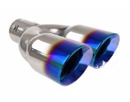 Накрайник за ауспух, AMIO МТ 022BLC ефект син пламък 1бр.