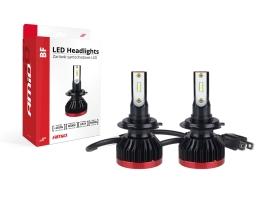 Комплект LED Лед Диодни Крушки за фар Amio H7 BF Mini - 50W. 6200 Lm + 200% по-ярка светлина 1кт.