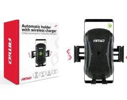 Стойка,безжично зарядно у-во за телефон AMIO ,10W, Индукцийно ,PHW-02 HQ 1бр.