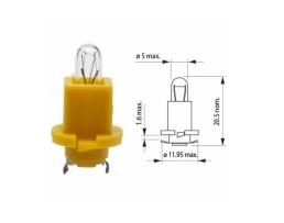 Фасунги за лампа на автомобилно табло Autoexpress , Цокъл,База Т5 24V1.2W,10бр 1кт.
