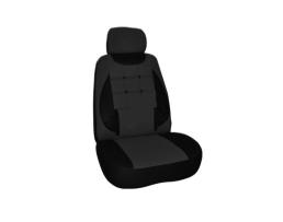 Калъфи за седалки Ekostar, тапицерия за предни и задни седалки , Пълен комплект от 6 части, черно 1кт.