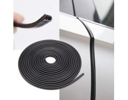 Протектор лайсна за ръба на вратата черна със щипки 10м 10м.