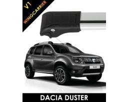 Комплект багажни греди за автомобил Amio Dacia Duster 2014-2018  напречни греди за ски,сноуборд и пренос на различни товари 1кт.