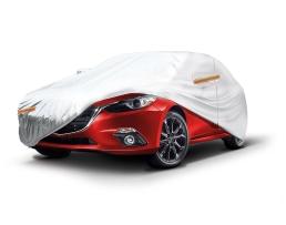 Покривало за кола,автомобил Amio, M 430x165x120cm. двойно подсилено и подплатено, Сивo, M 1бр.