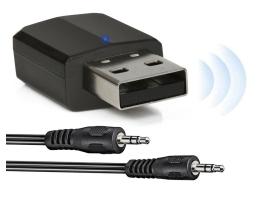FM Трансмитер AMIO AUX-03 Bluetooth 5.0 нано приемник и предавател 2в1 на звук 1бр.