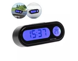 Термометър за кола с дигитален часовник с подсветка K-02 1бр.