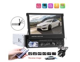 Мултимедия плеър 1 Din комплект с камера за подпоматане на паркирането Zappin 9601 Универсален Bluetooth FM MP3 MP4 МР5 плейър 1кт.