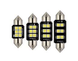 Комплект диодни Led , лед крушки за интериор,осветление номер Amio Canbus Festoon C5W SMD Philips 3020 Chipset  12V 31mm,36mm,39mm,41mm 1кт.