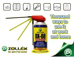 Многофункционално средство за смазване и защита от корозия Zollex DX-88 280мл 1бр.