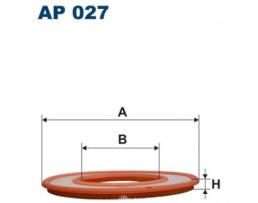 Въздушен филтър за  BMW Serie 3 (E21), Serie 5 (E12), Serie 6 (E24), Serie 7 (E23); Mercedes 200, MA437, Mann+Hummel C 4190, Filtron AP 027, Mahle/Knecht LX 66, WFP-71.21 1бр.