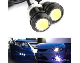 Комплект LED Диодни Дневни светлини Automax бели тип орлово око 18мм , 23мм 1кт.