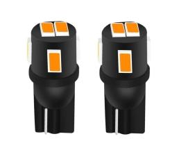 Комплект диодни Led , лед крушки за интериор,габарит,осветление номер Amio LED CANBUS  24SMD 3014 T10 (W5W)Amber Orange Lighting, 12V/24V 1кт.