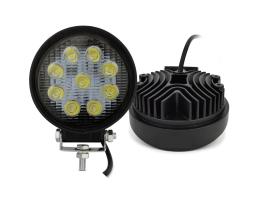 Лед Диоден Халоген, Vertex LED IP67 9 LED – 27W, Кръгъл 1бр.