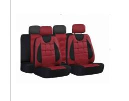 Калъфи за седалки Ekostar, тапицерия за предни и задни седалки, Пълен комплект 6 части,Бордо 1кт.