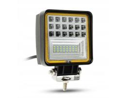 Диоден Халоген за мъгла,Работна лампа Amio ,LED ,IP67 ,42 LED ,126W,12-24V,3 Функции 1бр.
