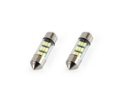 Комплект диодни Led , лед крушки за интериор,осветление номер Amio Festoon C5W 9xSMD 3014 12V 31mm 1кт.