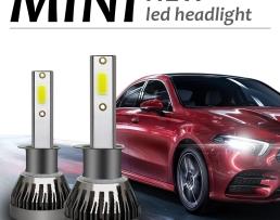 Комплект LED Лед Диодни Крушки за фар Amio Mini H1 - 36W. Над 150% по-ярка светлина 6000К 1кт.