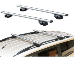 Автомобилен багажник RB 890 с ключалка и два ключа в комплекта захващане за фабричния рейлинг на покрива на автомобила 1бр.