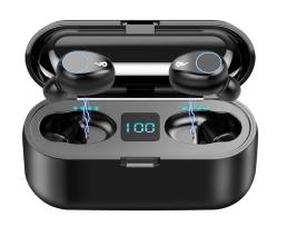 Безжични bluetooth 5.0 слушалки F9+ -5С , черни 1кт.