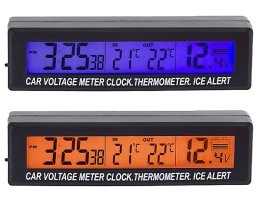 Термометър , Волтметър и Часовник за кола ATL 3 в 1 1бр.