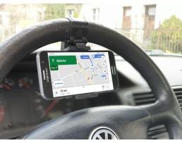 Стойка телефон универсална Automax закрепване за волана,Черна 1бр.
