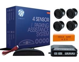 Парктроник M-TECH Parking sensor комплект , четири ултразвукови черни сензора и компактен дисплей 1кт.