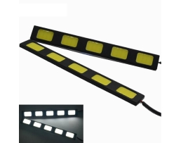 ДНЕВНИ СВЕТЛИНИ 2pcs/lot Waterproof 5W 6000K-7500K 5 COB LED DRL Daytime Running 2бр.