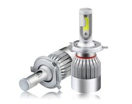 Комплект LED Лед Диодни Крушки за фар Amio C6 H4 - 36W. Над 150% по-ярка светлина 1кт.