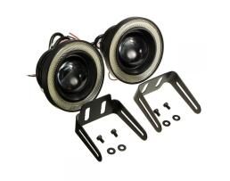 Комплект LED Диодни хлогени Vertex с ангелски очи за дневни светлини 64мм 1кт.