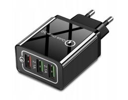 Мрежово зарядно устройство, Appach,  5V / 2.4A ,9V / 1.8A,, 12V / 1.5A ,220V,3 x USB 1бр.