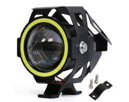 Халогенен LED CREE U7S с вграден COB LED Ринг за скутер , мотор