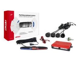 Парктроник AMIO Parking sensor с четири черни сензора и Футуристичен дисплей 1кт.