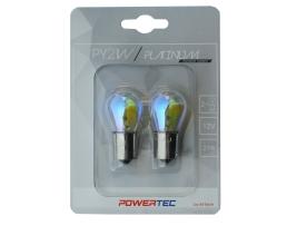 Крушки M-TECH Powertec P21W S25 12V 21W BAU15S RAINBOW 1кт.