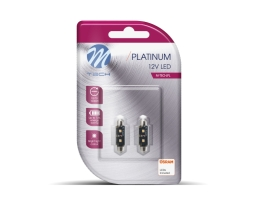 Комплект LED Крушки M-TECH, Platinum, OSRAM Opto Semiconductors, 36мм, 2xHP LED 12V 1кт.