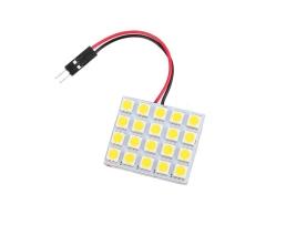 LED интериорна лампа за кола Vertex с 2 адаптера T10 , SV8.5  20 диода x 5050 SMD DC 12V в студено бяло 1бр.