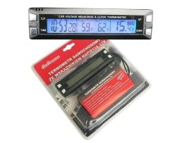 Цифров термометър CARCOMMERCE 61741, Часовник, Волтметър 12V 1бр.
