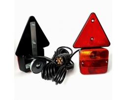 Комплект стопове за ремаркета,каравани Amio закрепване с магнит , букса и кабели комплект 1кт.