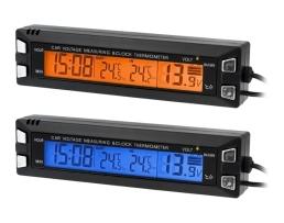 Термометър , Волтметър и Часовник за кола Automax 3 в 1 ЕC31 1бр.