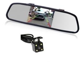 Система за паркиране Zappin огледало с монитор и камера за заден ход 1кт.