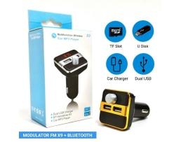 Многофункционален безжичен автомобилен MP3 FM предавател Bluetooth X9 1бр.