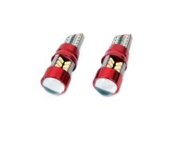 Светодиодна габаритна крушка LED VERTEX CANBUS 27SMD 3014 T10e (W5W) бял 12V / 24V 1бр.